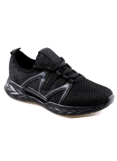 RYT Bruges Memory Foam Taban Siyah Erkek Günlük Spor Ayakkabı Siyah